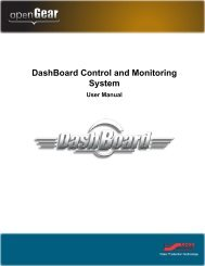 DashBoard User Manual (Iss. 5.0) - Ross Video