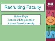 Robert Page's Presentation - Recruiting Faculty (2007)