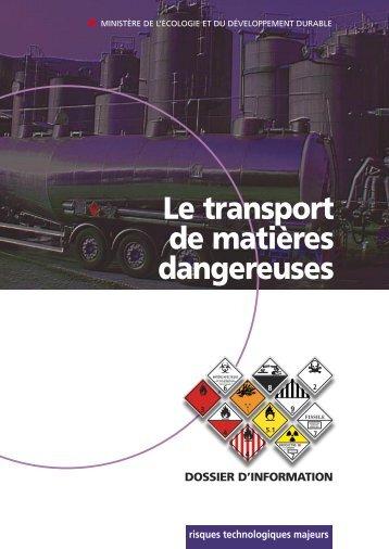 Le Transport de Matière Dangereuses - Catalogue - Prim.net