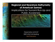 Regional and Nearshore Bathymetry of American Samoa ...