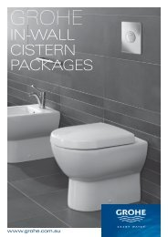 Grohe 80mm in-wall cistern with Subway WF package