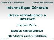 Informatique Générale Brève introduction à Internet