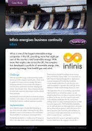 Infinis energises business continuity Softcat helps one of the UK's ...