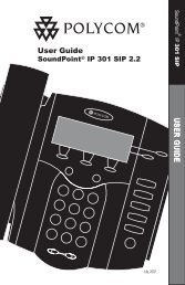 SoundPoint IP 301 User Guide SIP 2.2 - Polycom Support