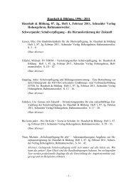 Haushalt & Bildung, 1996 - 2011 Haushalt & Bildung, 87 ... - HaBiFo