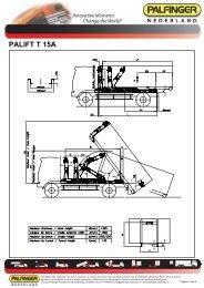 Specificaties & afmetingen T 15A - Palfinger