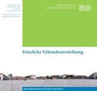 Feierliche Urkundenverleihung - Naturwissenschaftliche Fakultät II ...