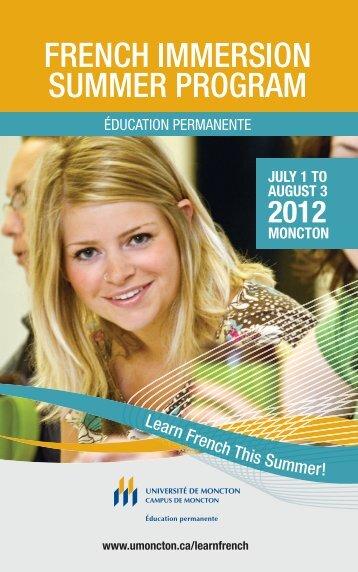 Brochure Explore - Université de Moncton