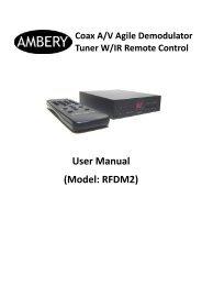 User Manual (Model: RFDM2)