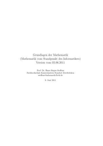 Grundlagen der Mathematik - Logo der Fachhochschule ...