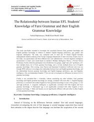 The Relationship between Iranian EFL Students' Knowledge of Farsi ...