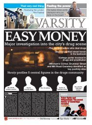 Major investigation into the city's drug scene - Varsity