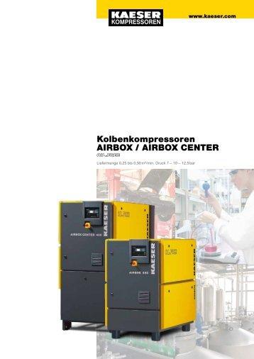 Kolbenkompressoren AIRBOX / AIRBOX CENTER