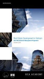 Real Estate Development in Vietnam - BCA Academy