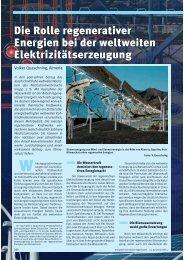 Die Rolle regenerativer Energien bei der weltweiten ...