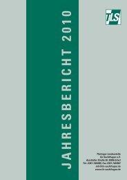 JAHRESBERICHT 2010 - Thüringer Landesstelle für Suchtfragen eV
