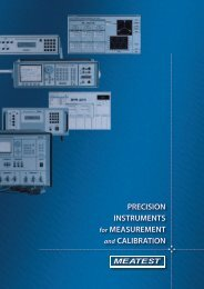 PRECISION INSTRUMENTS for MEASUREMENT and ... - meatest.cz
