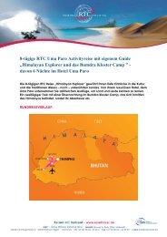 "8-tägige RTC Uma Paro Activityreise mit eigenem Guide ""Himalayan ..."