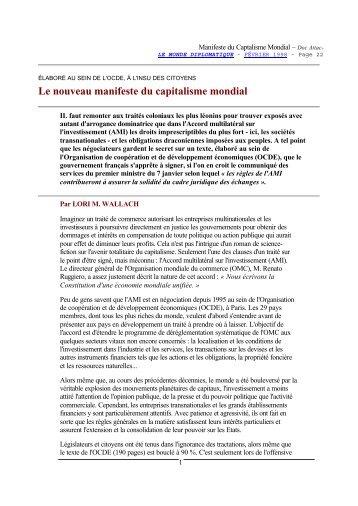 nouveau manifeste - Contacter un comité local d'Attac