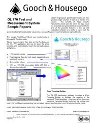 OL 770 Sample Reports - Gooch and Housego