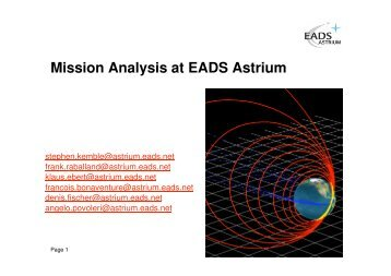ASTRIUM Astrodynamics tools overview session - ESA