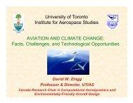 University of Toronto Institute for Aerospace Studies AVIATION AND ...