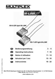 22 RX-6-DR light M-LINK - RC-Network Wiki
