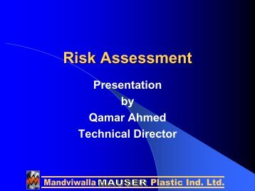 Risk Assessment - IEP Karachi Centre