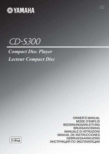 Compact Disc Player Lecteur Compact Disc - Yamaha Hifi