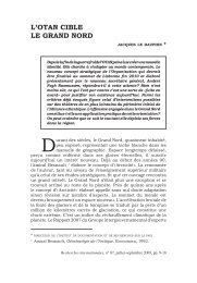 L'OTAN cibLe Le GrANd NOrd - Recherches internationales