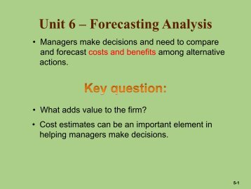 Chapter 5 – Cost Estimation - Anna Lee