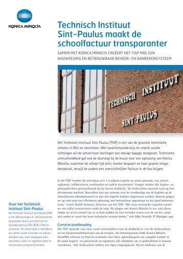 Ontdek hoe Technisch Instituut Sint-Paulus de factuur transparanter ...