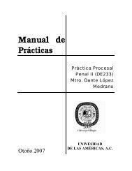 Manual de Prácticas - Universidad de las Américas A. C.