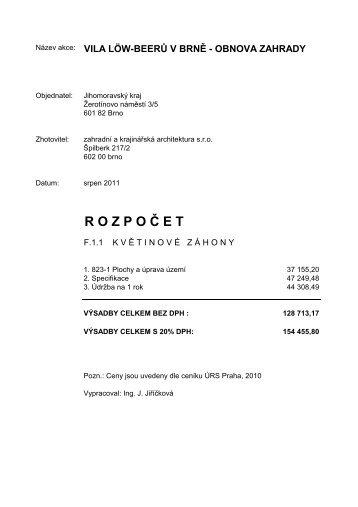 F.1.1-2-Vila LB-Rozpočet-ZD.pdf - Jihomoravský kraj