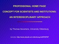 professional home page concept for scientists and institutions