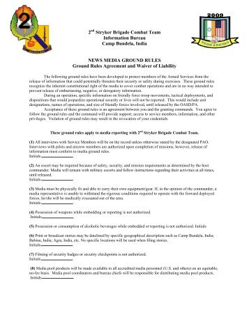 2 Stryker Brigade Combat Team Information Bureau ... - USARPAC