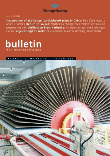 Bulletin 2/2006 - Siempelkamp