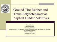 Ground Tire Rubber and Trans-Polyoctenamer as Asphalt Binder ...