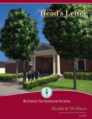 Spring 2009 - Rothesay Netherwood School