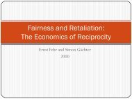 Fairness and Retaliation: The Economics of Reciprocity