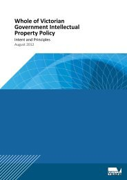 Whole of Victorian Government Intellectual Property Policy