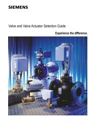 Valve and Valve Actuator Selection Guide - Staefa Control System