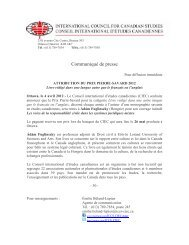 attribution du prix pierre-savard 2012 - Conseil international d ...