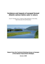 Incidence and impacts of escaped farmed Atlantic salmon ... - WWF