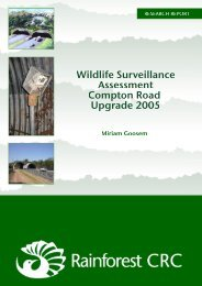 wildlife surveillance assessment compton road upgrade 2005