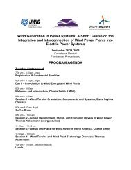 Wind Generation in Power Systems: A Short Course - Utility Variable ...