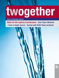 2 Water for life requires inventiveness I Daio Paper Mishima ... - Voith