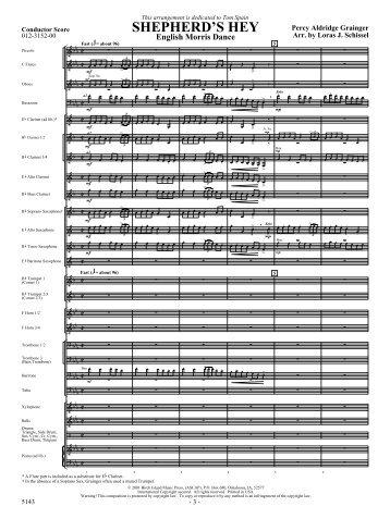 Shepherd's Hey-score - JW Pepper