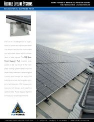 Solar Panel Support Post - Flexible Lifeline Systems