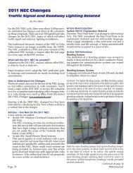 2011 NEC Changes – Traffic Signal and Roadway Lighting - IMSA